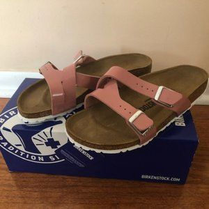 Birkenstock Yao Balance Patent Sandal. Size: 8